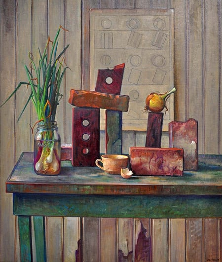 The Mason's Table by Art League instructor Diane Tesler.